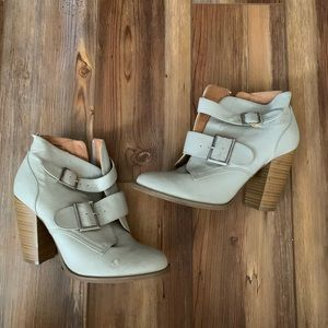 Charlotte Russe Buckled Heeled Booties Size 7